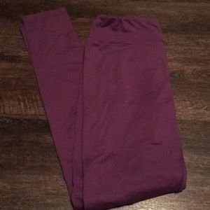 LuLaRoe OS leggings- purple
